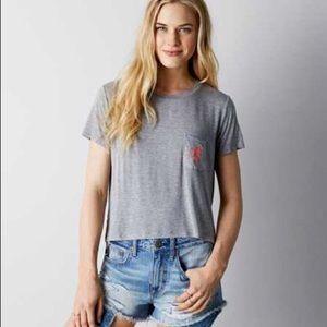 AEO Soft & Sexy Cactus Pocket T-shirt